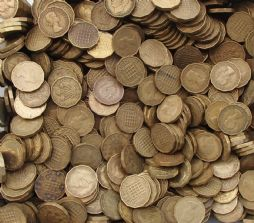 Bulk Brass Three Pence Choose The Amount for sale